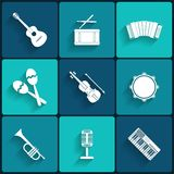 Vectorpictogram van muzikaal materiaal Stock Foto
