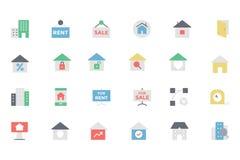 Vectorpictogram 2 van Real Estate Stock Afbeeldingen