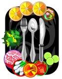 Vectorpictogram voor restaurant en koffie Stock Afbeelding
