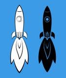 Vectorpictogrammen met raketten Royalty-vrije Stock Foto's