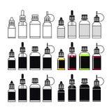 Vectorpictogrammen van e-Vloeistof stock illustratie