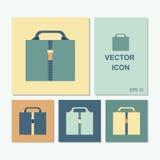 Vectorpictogrammen van het geval in verschillende kleurencombinaties Royalty-vrije Stock Fotografie