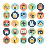 Vectorpictogrammen 3 van Real Estate Royalty-vrije Stock Foto's