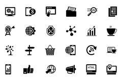 Vectorpictogrammen 3 van SEO en Marketing Royalty-vrije Stock Fotografie