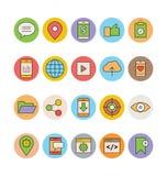 Vectorpictogrammen 2 van SEO en Marketing Stock Afbeelding
