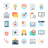 Vectorpictogrammen 4 van SEO en Marketing Stock Foto