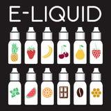 Vectorpictogrammen van smaken van elektronische sigaret royalty-vrije illustratie