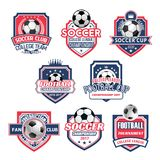 Vectorpictogrammen voor de liga van het de voetbalteam van de voetbalclub Royalty-vrije Stock Afbeelding