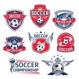 Vectorpictogrammen voor de voetbalkampioenschap van de voetbalclub Royalty-vrije Stock Afbeeldingen