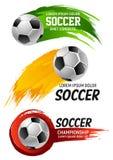 Vectorpictogrammen voor de voetbalkampioenschap van de voetbalclub Stock Afbeeldingen