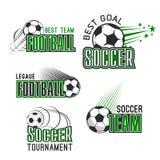 Vectorpictogrammen voor de voetbaltoernooien van de voetballiga Royalty-vrije Stock Foto
