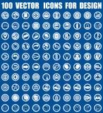 Vectorpictogrammen voor ontwerp Stock Afbeelding