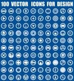 Vectorpictogrammen voor ontwerp Stock Afbeeldingen