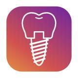 Vectorpictogrammen voor tandklinieken, orthodontie Royalty-vrije Stock Afbeelding