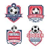 Vectorpictogrammen voor voetbalkop of de club van de voetbalsport Royalty-vrije Stock Afbeelding