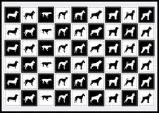 Vectorpictogrammenhond Royalty-vrije Stock Foto's