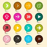 Vectorpijlensymbolen Kleurrijke cirkelpictogrammen royalty-vrije illustratie