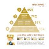 Vectorpiramide voor infographic Stock Foto