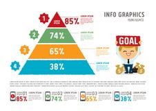 Vectorpiramide voor infographic Stock Foto's