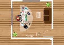 Vectorplan het werk van een commerciële vergadering, workshops en brainstormingsideeën Stock Fotografie