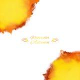 Vectorplons van waterverf in de herfstkleuren Royalty-vrije Stock Afbeelding