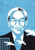 Vectorportret van Nelson Mandela Stock Foto's