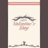 Vectorprentbriefkaar, de dag van Valentine Royalty-vrije Stock Foto