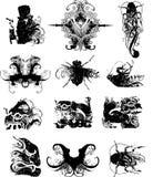 Vectorreeks 1 van Grunge royalty-vrije illustratie