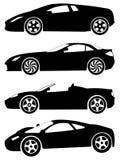 Vectorreeks 2 van sportwagens Stock Afbeelding
