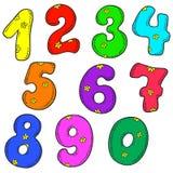 Vectorreeks aantallen Multicolored cijfers Royalty-vrije Stock Foto's