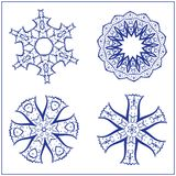 Vectorreeks Abstracte Heilige Meetkundesymbolen Royalty-vrije Stock Afbeelding
