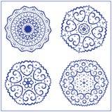 Vectorreeks Abstracte Heilige Meetkundesymbolen Stock Afbeelding