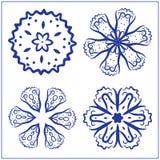 Vectorreeks Abstracte Heilige Meetkundesymbolen Royalty-vrije Stock Fotografie