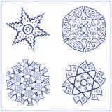 Vectorreeks Abstracte Heilige Meetkundesymbolen Royalty-vrije Stock Afbeeldingen