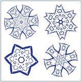Vectorreeks Abstracte Heilige Meetkundesymbolen Royalty-vrije Stock Foto's