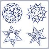 Vectorreeks Abstracte Heilige Meetkundesymbolen Stock Foto's