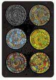 Vectorreeks abstracte ronde achtergronden Royalty-vrije Stock Fotografie