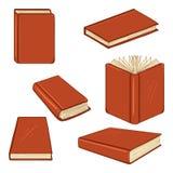 Vectorreeks Beeldverhaalboeken in Rode Hardcover royalty-vrije illustratie