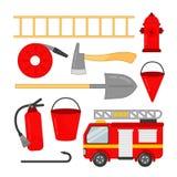 Vectorreeks brandpictogrammen stock illustratie