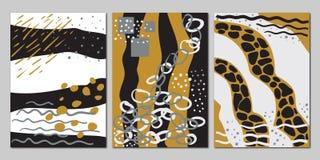 Vectorreeks creatieve universele abstracte kaarten royalty-vrije illustratie