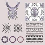 Vectorreeks decoratieve elementen voor manier in etnische stijl Stock Afbeelding