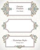 Vectorreeks decoratieve kaders in Victoriaanse stijl Royalty-vrije Stock Foto's