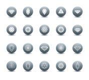 Vectorreeks diamantpictogrammen Stock Foto