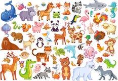Vectorreeks dieren Huisfavorieten zoogdieren royalty-vrije illustratie