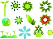 Vectorreeks ecologische symbolen Stock Foto