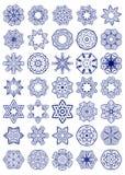 Vectorreeks Eenvoudige Heilige Meetkundesymbolen Royalty-vrije Stock Foto