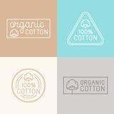 Vectorreeks etiketten, kentekens en ontwerpelementen voor organische wieg stock illustratie