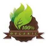 Vectorreeks gekleurde etiketten voor organische, natuurlijke, eco of biopr Stock Fotografie