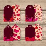 Vectorreeks giftmarkeringen voor de Dag van Valentine Royalty-vrije Stock Afbeelding
