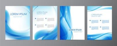 Vectorreeks golvende abstracte dekking, brochures Stock Afbeeldingen